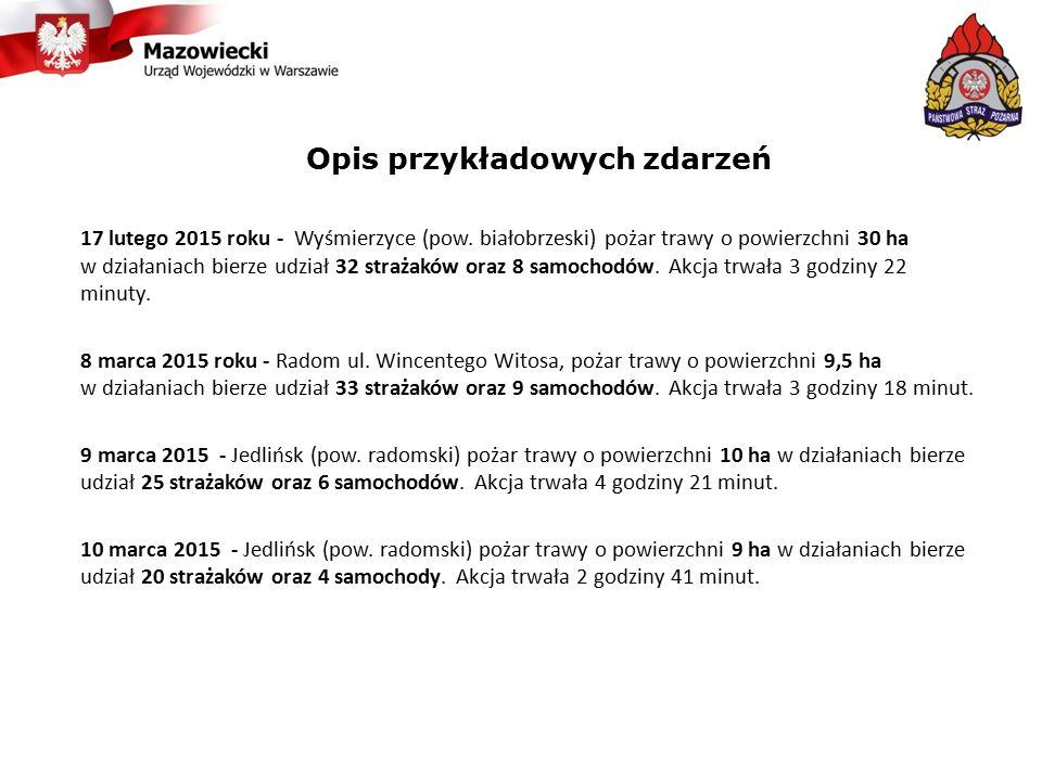 Opis przykładowych zdarzeń 17 lutego 2015 roku - Wyśmierzyce (pow.