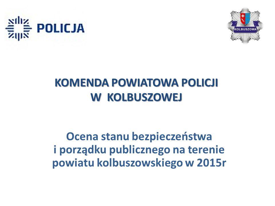 KOMENDA POWIATOWA POLICJI W KOLBUSZOWEJ Ocena stanu bezpieczeństwa i porządku publicznego na terenie powiatu kolbuszowskiego w 2015r