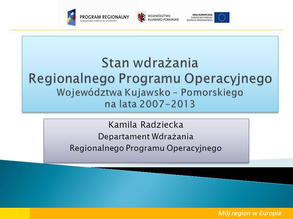 Mój region w Europie Kamila Radziecka Departament Wdrażania Regionalnego Programu Operacyjnego Kamila Radziecka Departament Wdrażania Regionalnego Pro