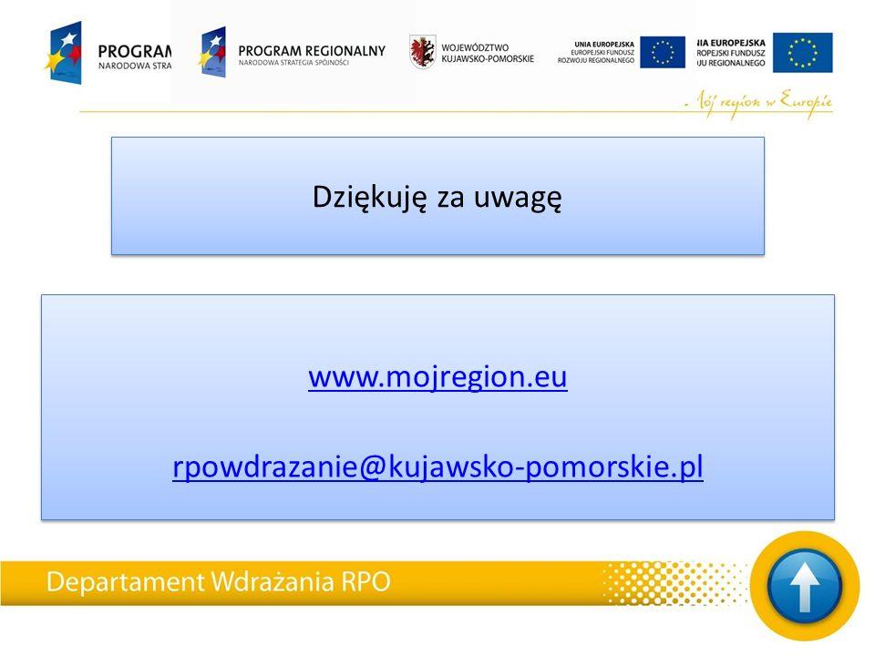Dziękuję za uwagę www.mojregion.eu rpowdrazanie@kujawsko-pomorskie.pl www.mojregion.eu rpowdrazanie@kujawsko-pomorskie.pl