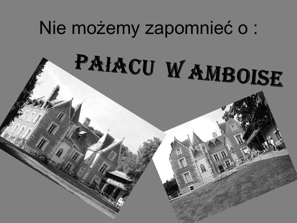 Nie możemy zapomnieć o : Pa ł acu w Amboise