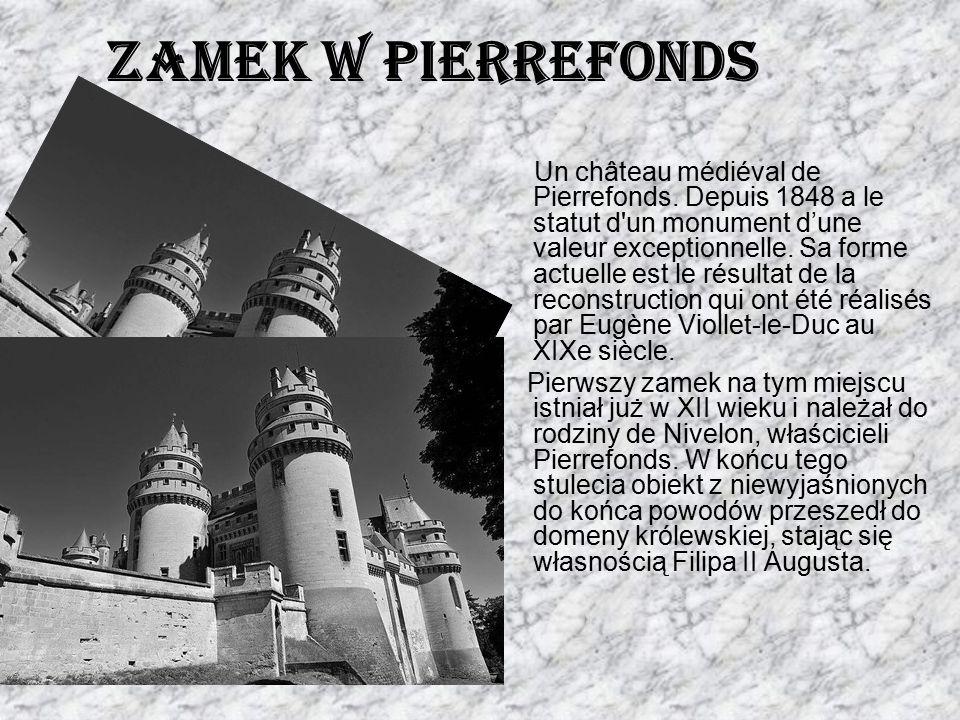 Un château médiéval de Pierrefonds. Depuis 1848 a le statut d'un monument d'une valeur exceptionnelle. Sa forme actuelle est le résultat de la reconst