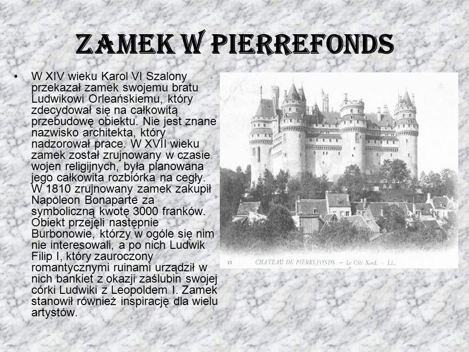 W XIV wieku Karol VI Szalony przekazał zamek swojemu bratu Ludwikowi Orleańskiemu, który zdecydował się na całkowitą przebudowę obiektu. Nie jest znan