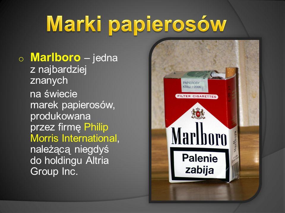 o Marlboro – jedna z najbardziej znanych na świecie marek papierosów, produkowana przez firmę Philip Morris International, należącą niegdyś do holdingu Altria Group Inc.