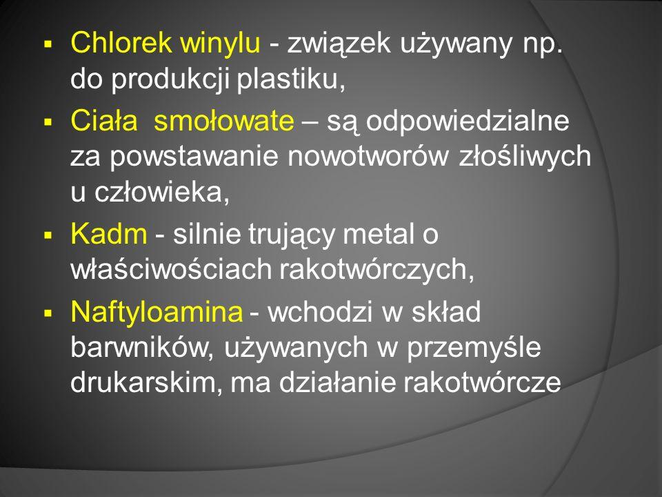  Chlorek winylu - związek używany np.