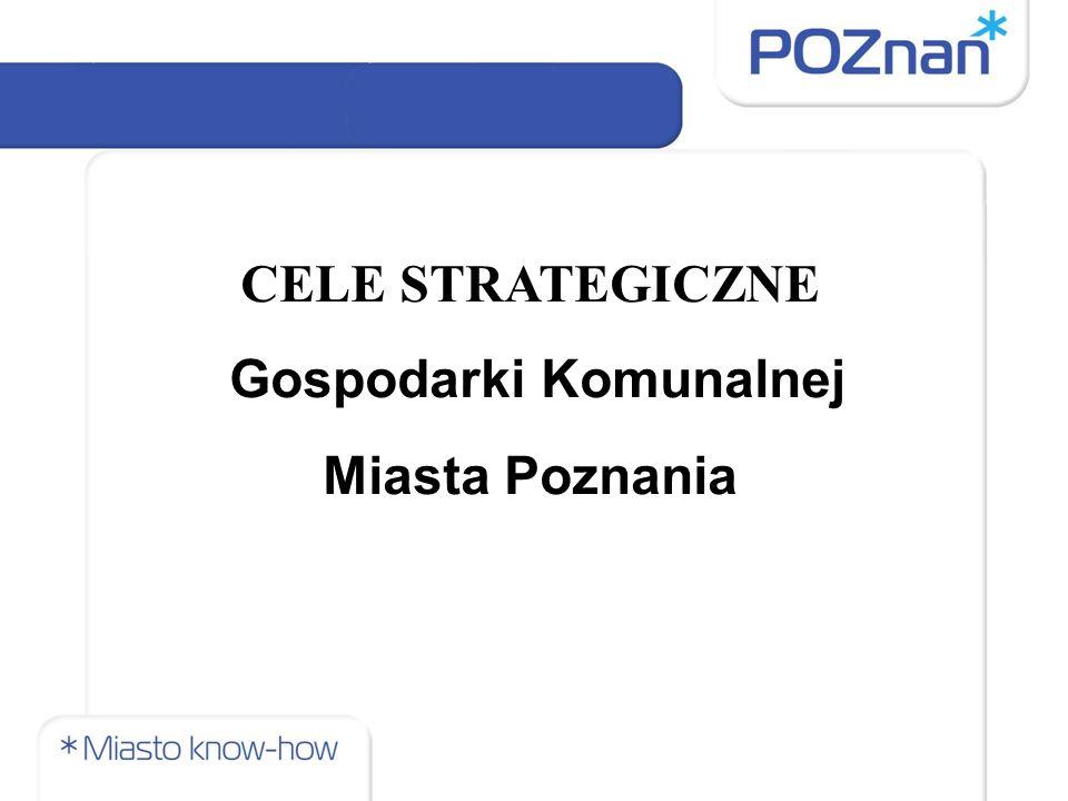 CELE STRATEGICZNE Gospodarki Komunalnej Miasta Poznania