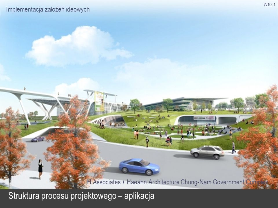 W1001 Struktura procesu projektowego – aplikacja H Associates + Haeahn Architecture Chung-Nam Government Complex Implementacja założeń ideowych