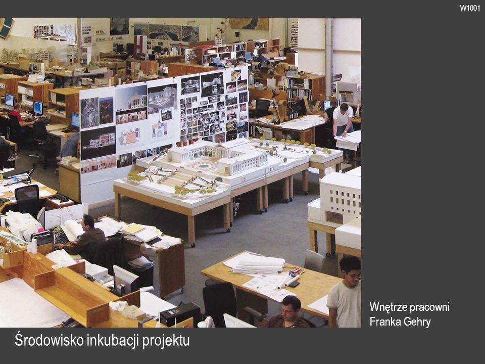 W1001 Środowisko inkubacji projektu Wnętrze pracowni Franka Gehry