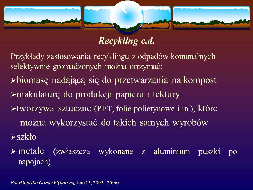 Recykling c.d.