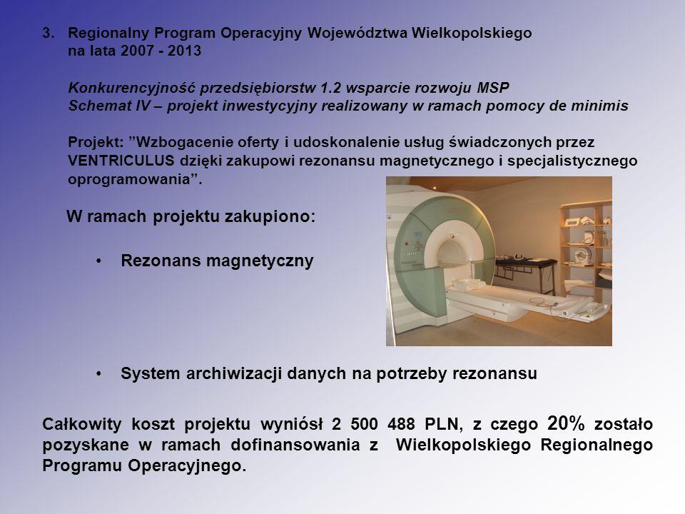 Całkowity koszt projektu wyniósł 2 500 488 PLN, z czego 20% zostało pozyskane w ramach dofinansowania z Wielkopolskiego Regionalnego Programu Operacyj