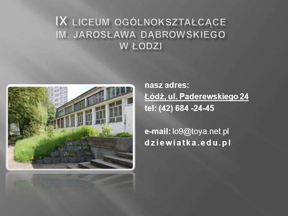nasz adres: Łódź, ul.
