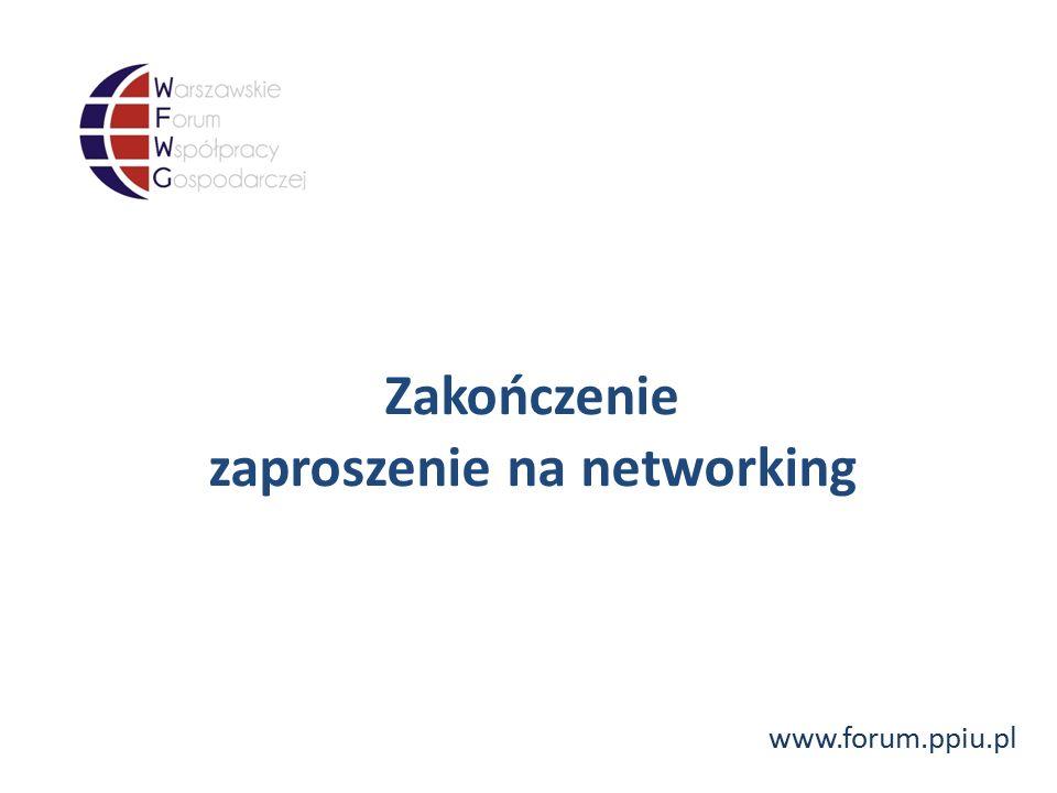 www.forum.ppiu.pl Zakończenie zaproszenie na networking