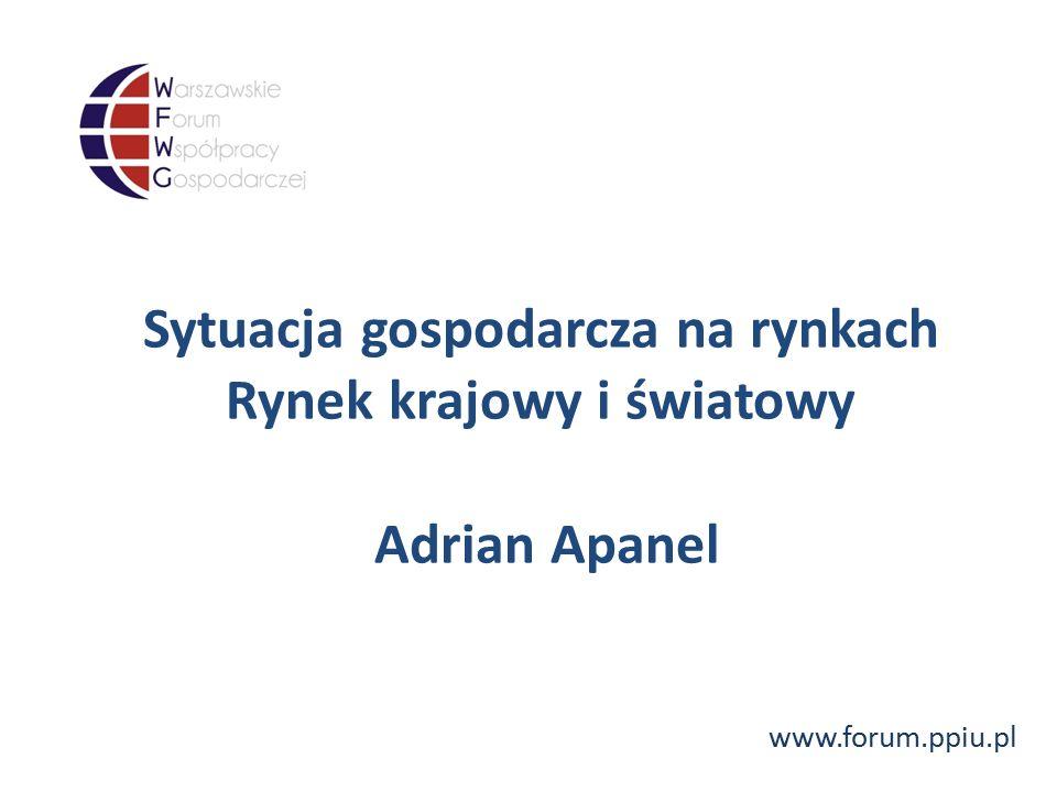 www.forum.ppiu.pl Sytuacja gospodarcza na rynkach Rynek krajowy i światowy Adrian Apanel
