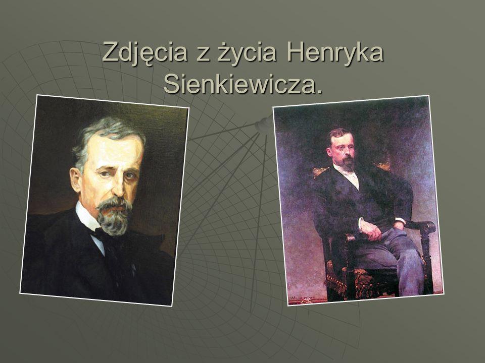 Zdjęcia z życia Henryka Sienkiewicza.