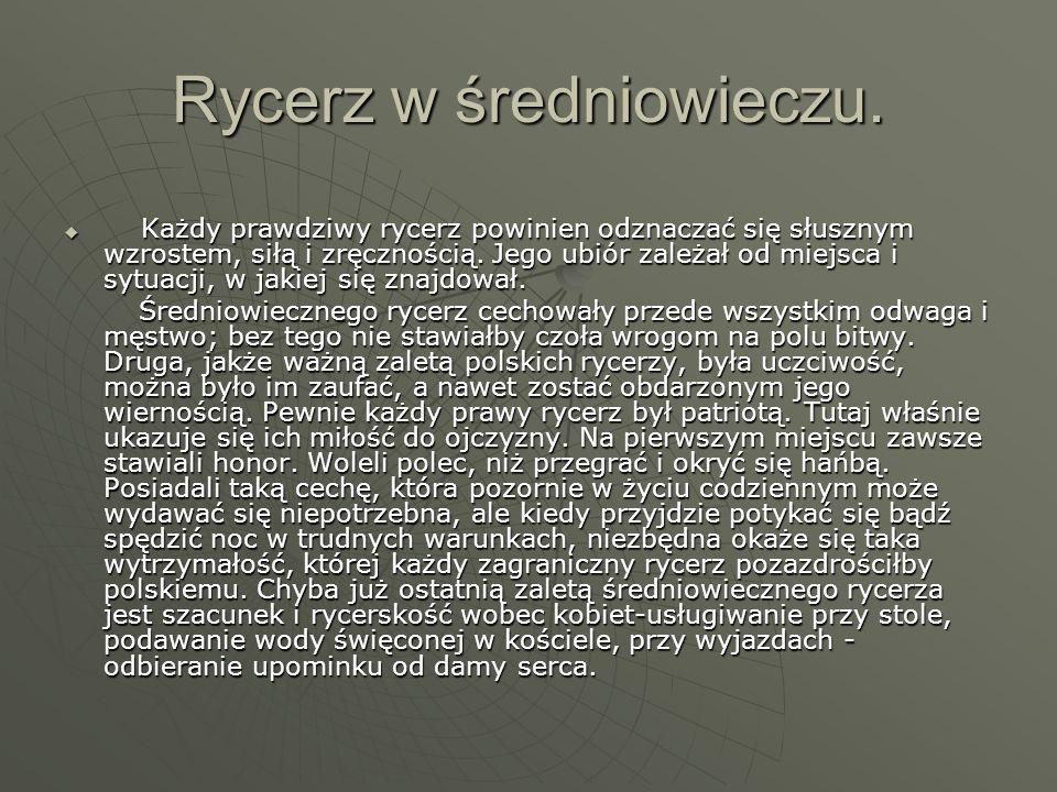 Rycerz w średniowieczu.