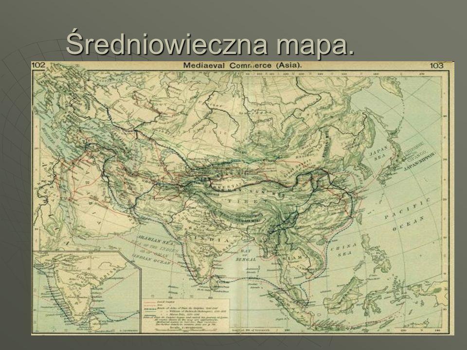 Średniowieczna mapa.