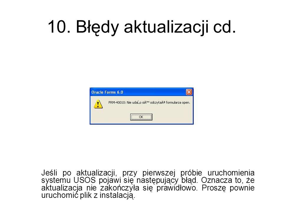 10. Błędy aktualizacji cd.