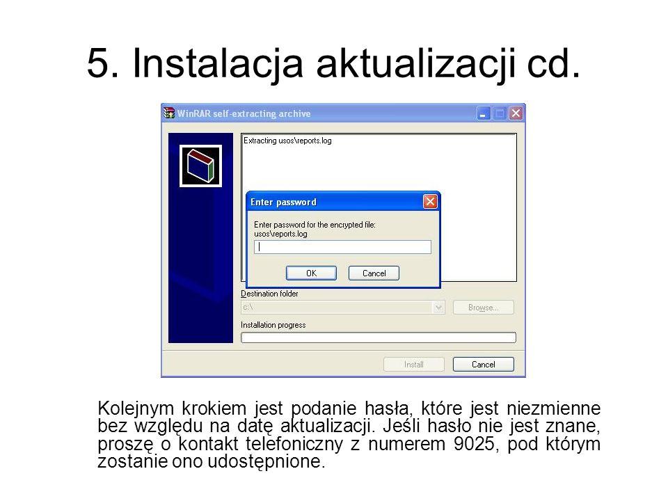 6.Instalacja aktualizacji cd.