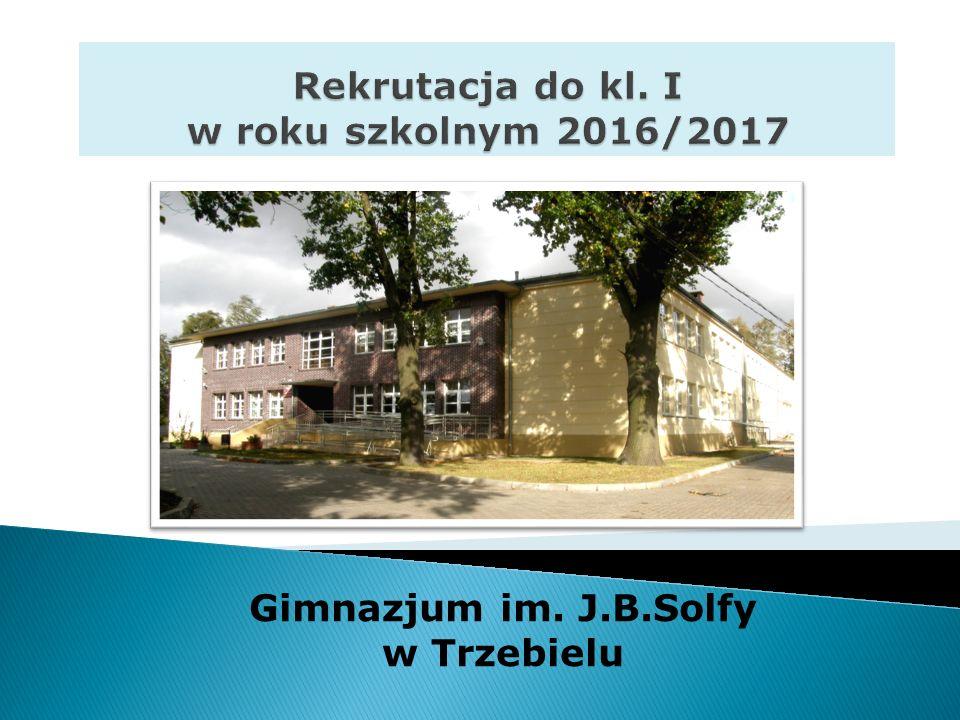 Gimnazjum im. J.B.Solfy w Trzebielu