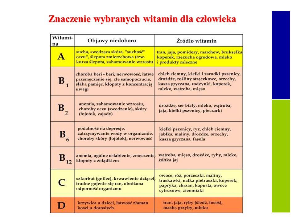 Witaminy Składniki pokarmowe To składniki pokarmowe, które nie dostarczają ani energii, ani budulca, ale są organizmami niezbędnymi do A, B, C, D, E,