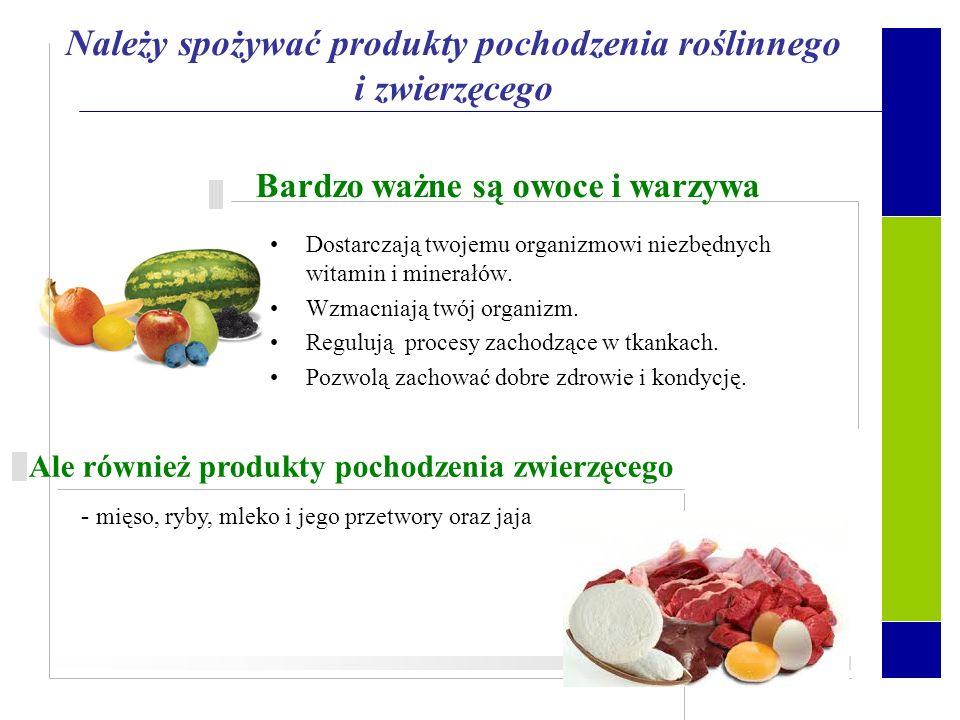 Pokarm dostarcza energii niezbędnej do wykonywania czynności życiowych. Jest również źródłem składników budujących ciało. Ważne jest nie tylko to, co