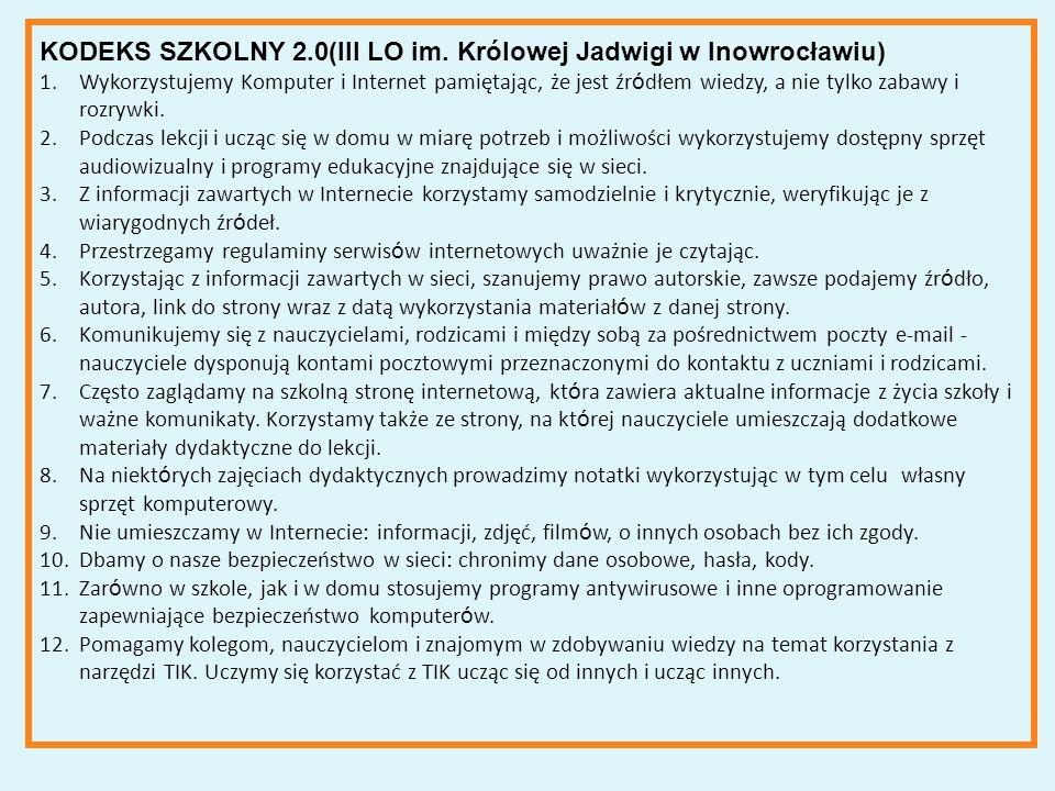 KODEKS SZKOLNY 2.0(III LO im.