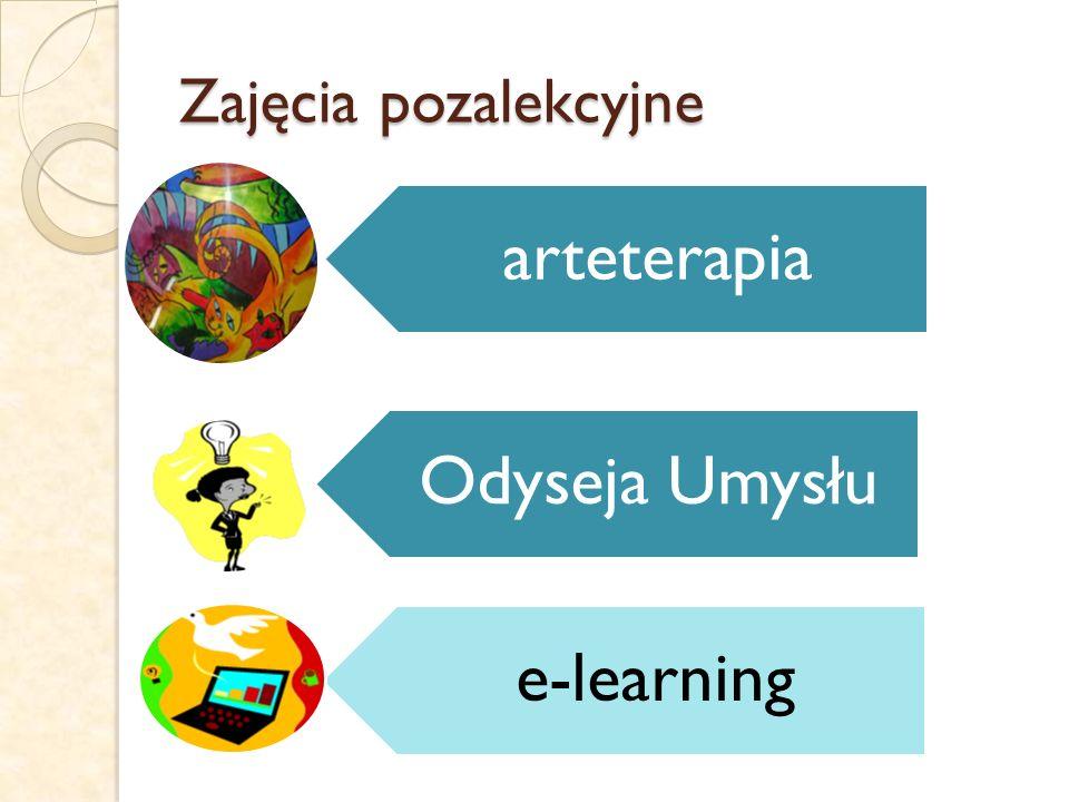Zajęcia pozalekcyjne arteterapia Odyseja Umysłu e-learning