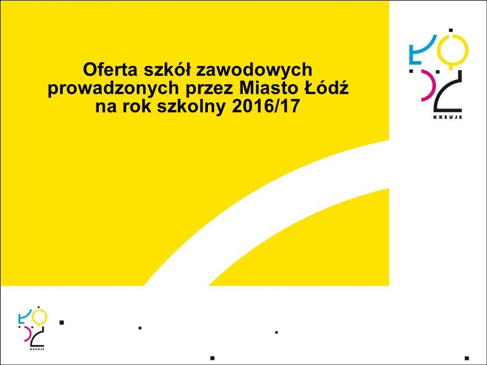 Oferta szkół zawodowych prowadzonych przez Miasto Łódź na rok szkolny 2016/17