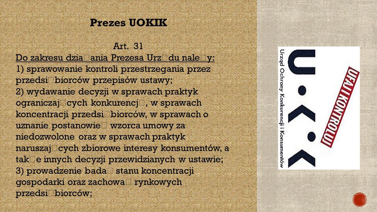 Prezes UOKIK Art.