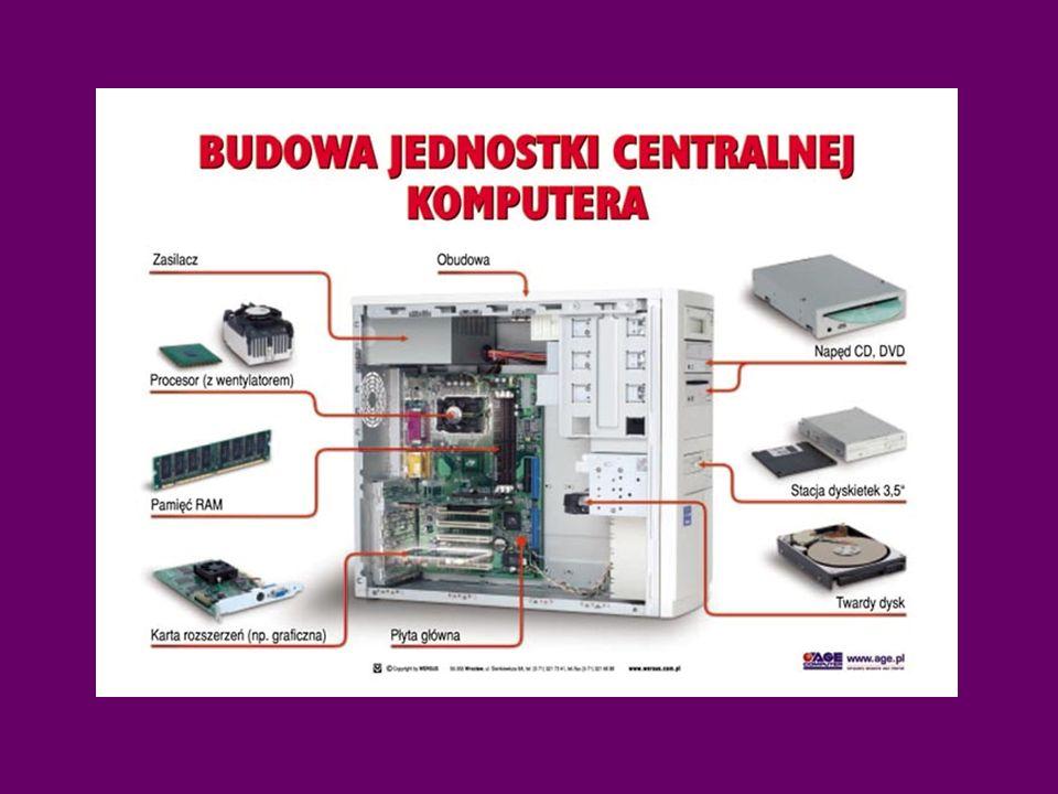 Jednostka centralna obudowa Napęd dyskietek Napęd CD ROM