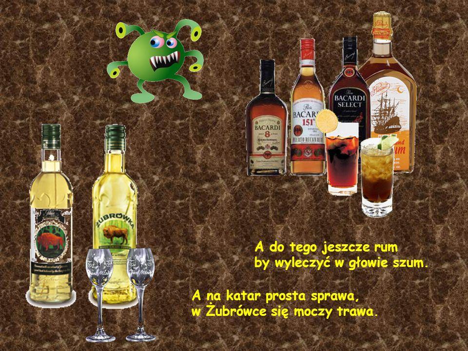 A do tego jeszcze rum by wyleczyć w głowie szum.