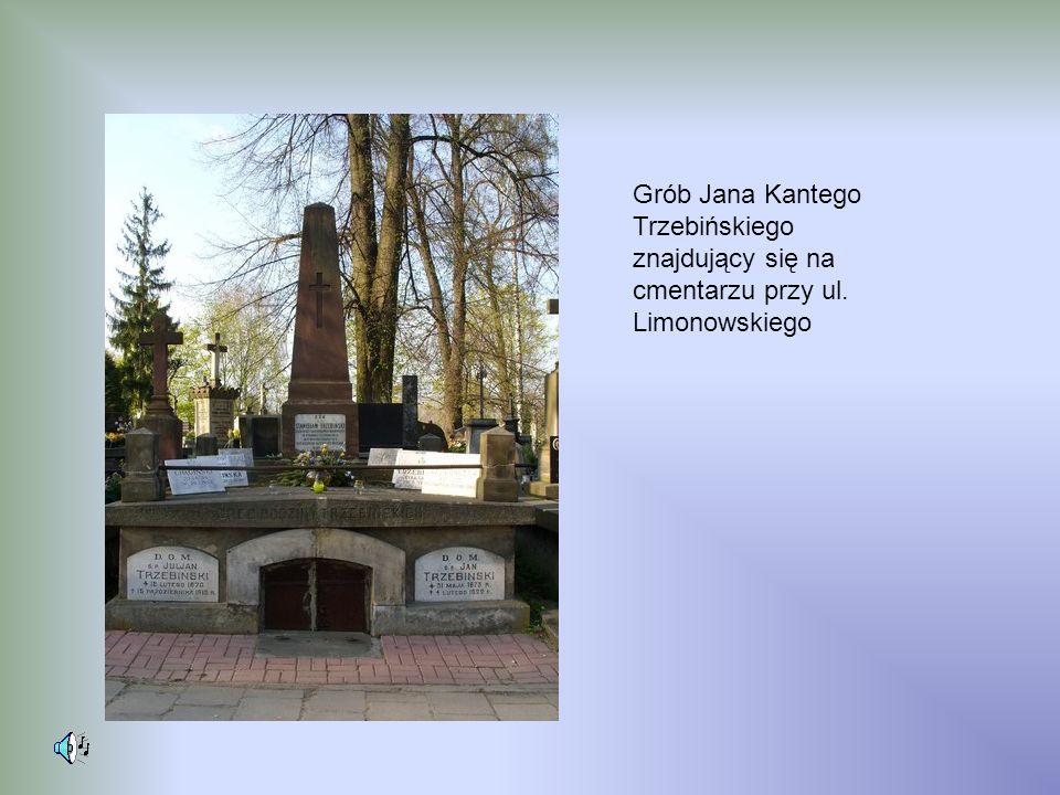 Grób Jana Kantego Trzebińskiego znajdujący się na cmentarzu przy ul. Limonowskiego