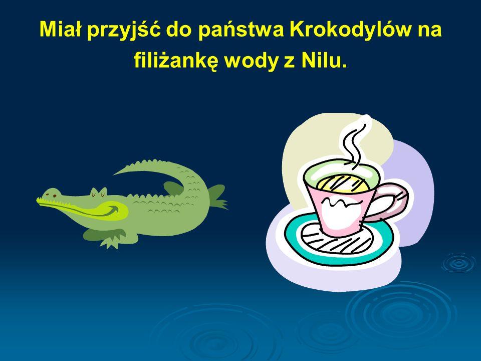 Miał przyjść do państwa Krokodylów na filiżankę wody z Nilu.