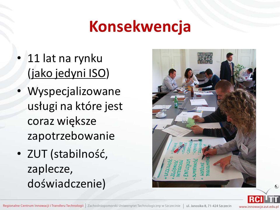 Konsekwencja 11 lat na rynku (jako jedyni ISO) Wyspecjalizowane usługi na które jest coraz większe zapotrzebowanie ZUT (stabilność, zaplecze, doświadczenie)