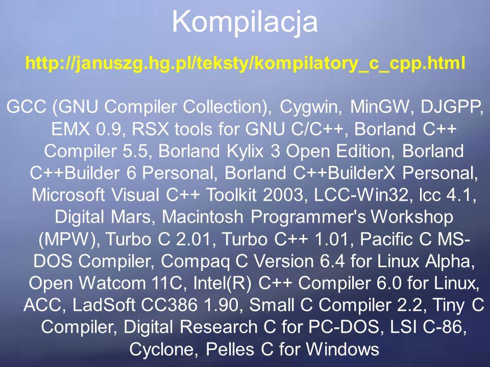 Operacje na plikach Dzięki standardowym funkcjom języka C możemy m.in.