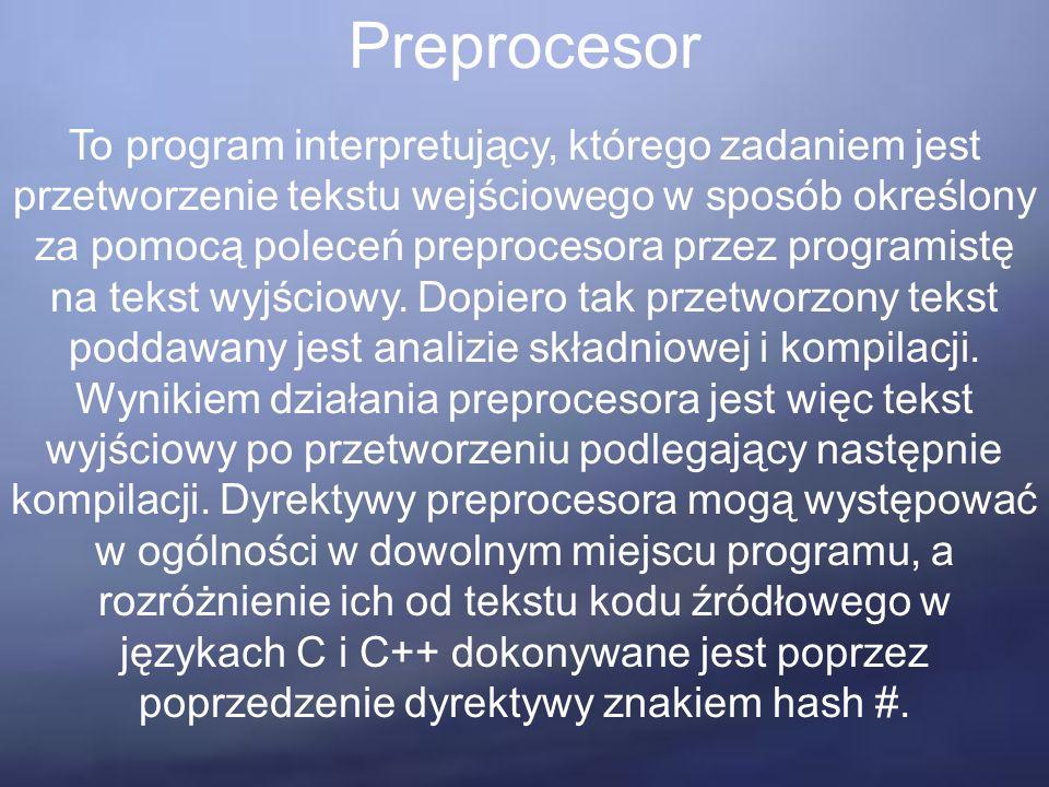 """Rodzina operatorów Przykład if((year % 4 ==0 && year % 100 != 0)    year % 400 == 0) printf(""""%d jest rokiem przestępnym \n , year); else printf(""""%d nie jest rokiem przestępnym \n , year);"""