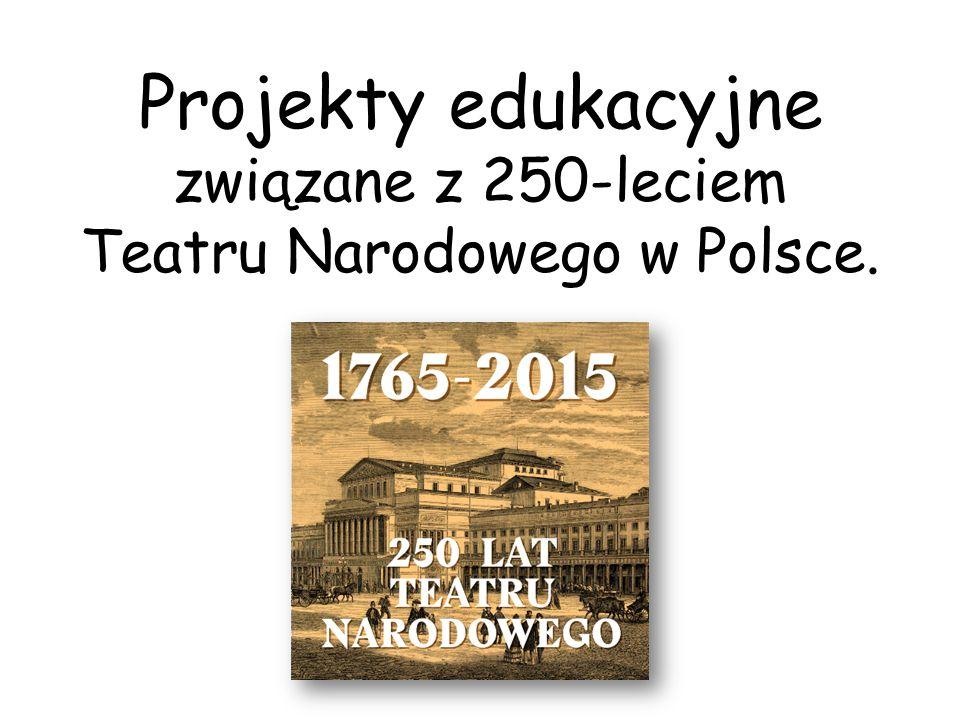 Projekty edukacyjne związane z 250-leciem Teatru Narodowego w Polsce.