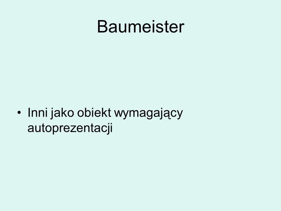Baumeister Inni jako obiekt wymagający autoprezentacji