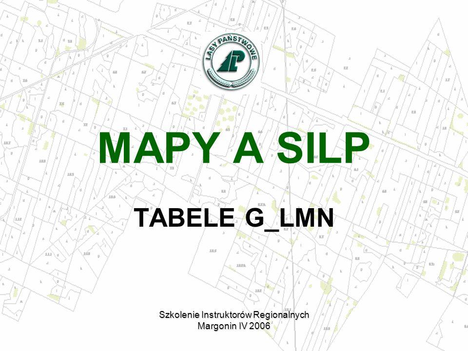 MAPY A SILP TABELE G_LMN Szkolenie Instruktorów Regionalnych Margonin IV 2006