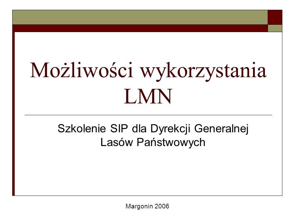 Przykładowe zastosowania LMN na poziomie RDLP Koszty hodowli lasu zagregowane do leśnictwa zaprezentowane w przedziałach wartości (5 klas, im większa intensywność tym większy koszt)