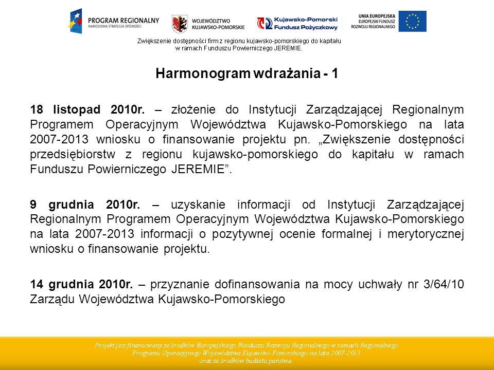 Harmonogram wdrażania - 1 18 listopad 2010r.