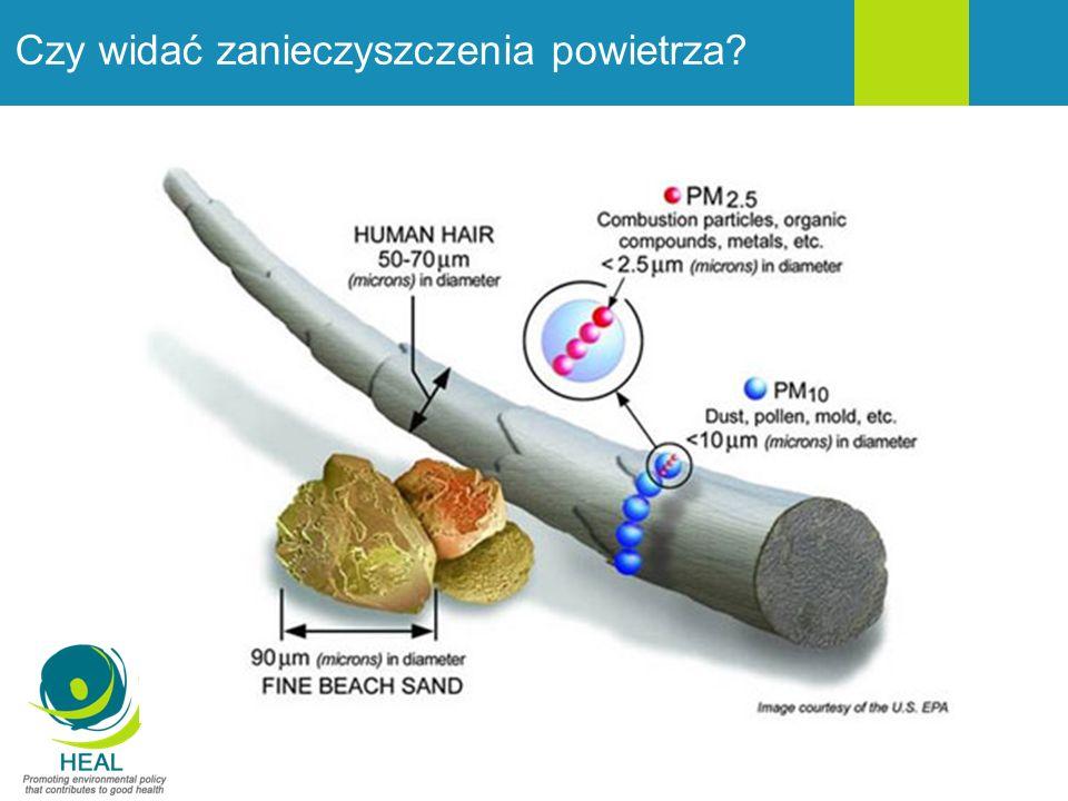 Efekty zdrowotne ekspozycji na pył Źródło: HEAL 2013, na podstawie APHEKOM 2012, Pope & Dockery 2006
