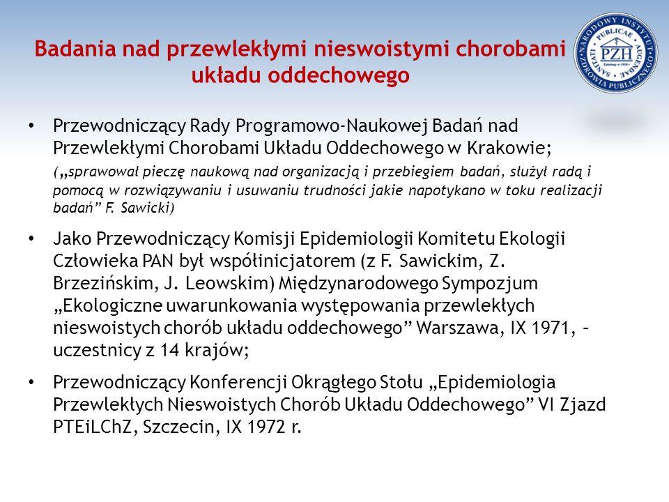 Reprezentacyjne badanie zachorowalności i chorobowości w Polsce na podstawie zgłoszeń do lekarzy 1967/1968 J.