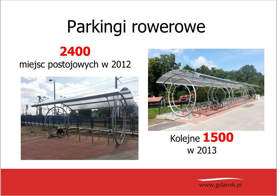 Parkingi rowerowe Kolejne 1500 w 2013 2400 miejsc postojowych w 2012
