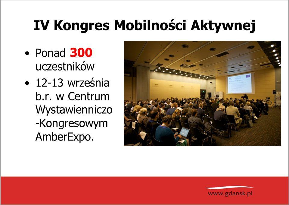 IV Kongres Mobilności Aktywnej Ponad 300 uczestników 12-13 września b.r.