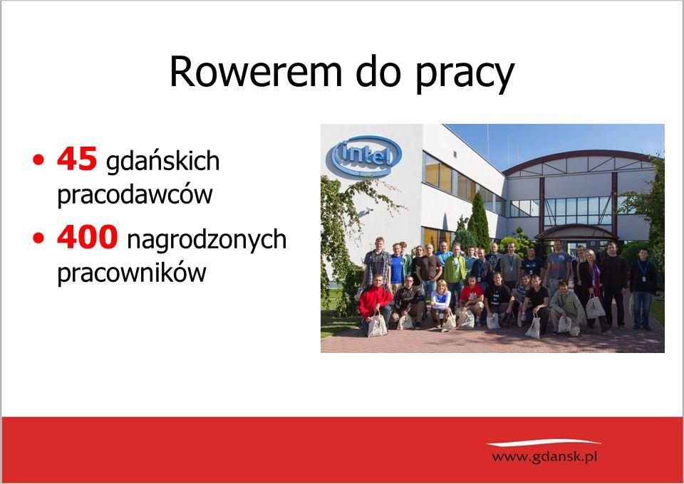 Rowerem do pracy 45 gdańskich pracodawców 400 nagrodzonych pracowników