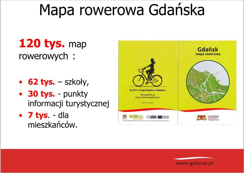 Mapa rowerowa Gdańska 120 tys. map rowerowych : 62 tys.