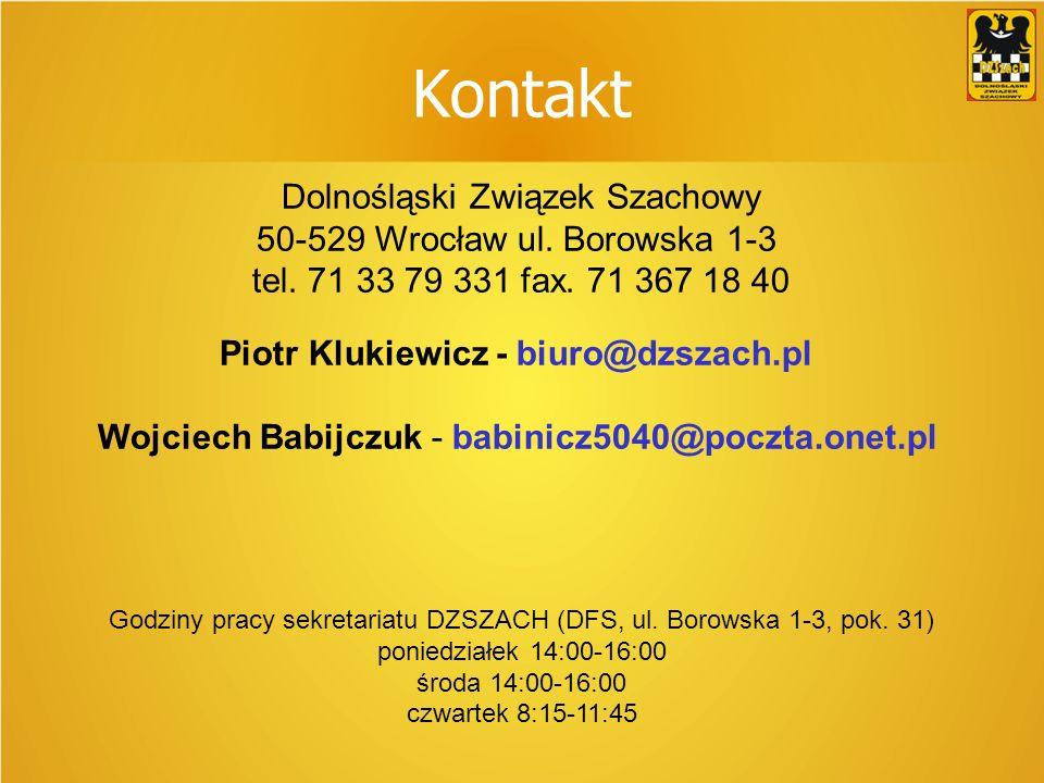 Kontakt Dolnośląski Związek Szachowy 50-529 Wrocław ul.