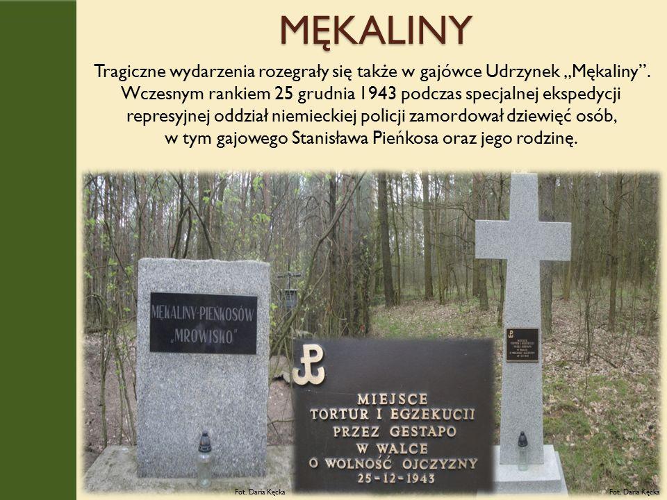 """MĘKALINY Tragiczne wydarzenia rozegrały się także w gajówce Udrzynek """"Mękaliny ."""