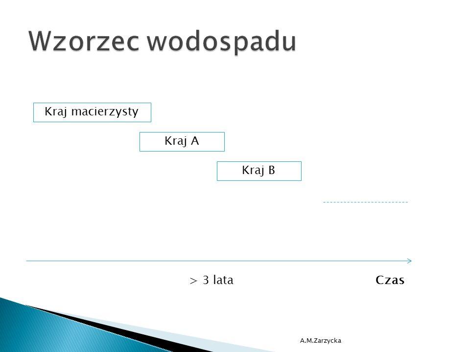 A.M.Zarzycka > 3 lataCzas Kraj macierzysty Kraj A Kraj B